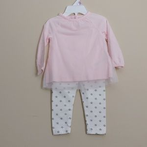*B2G1* Carters Baby Girl 2 piece Set Pink Stars